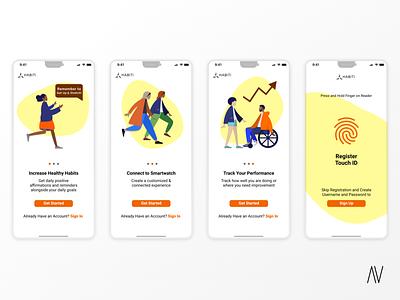 App Onboarding - Daily UI 023 dailyui user interface ui design product design