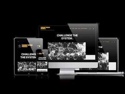 Activism Website: Desktop, Mobile, Tablet View organization nonprofit social justice protest activism mobile design website design web design user interface ui design