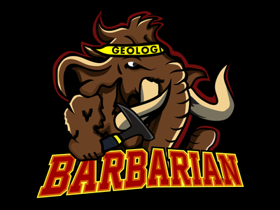 LOGO BARBARIAN illustration vector logo
