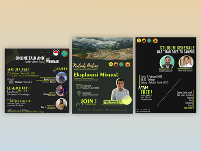 Seminar Pamflet pamflet seminar infographic design university student instagram template instagram post