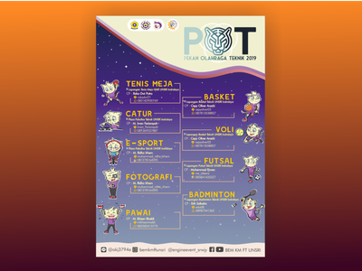 POT infographic pamflet organization college university student layout instagram template instagram post design