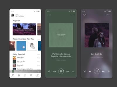Daily UI 009_Music Player music player daily ui 009 design app ui design ui sketch ui  ux uidesign dailyuichallenge dailyui