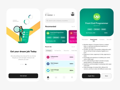 WeWork | Job Finder graphicdesign mobiledesign uidesign ux design graphic design dribbble light simple colorful clean userinterface uimobile mobileui mobile apps jobseeker