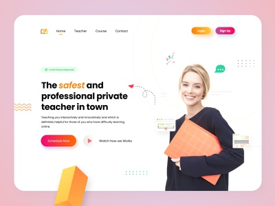 Private Teacher Landing Page Website web design website light clean design uidesign branding graphic design