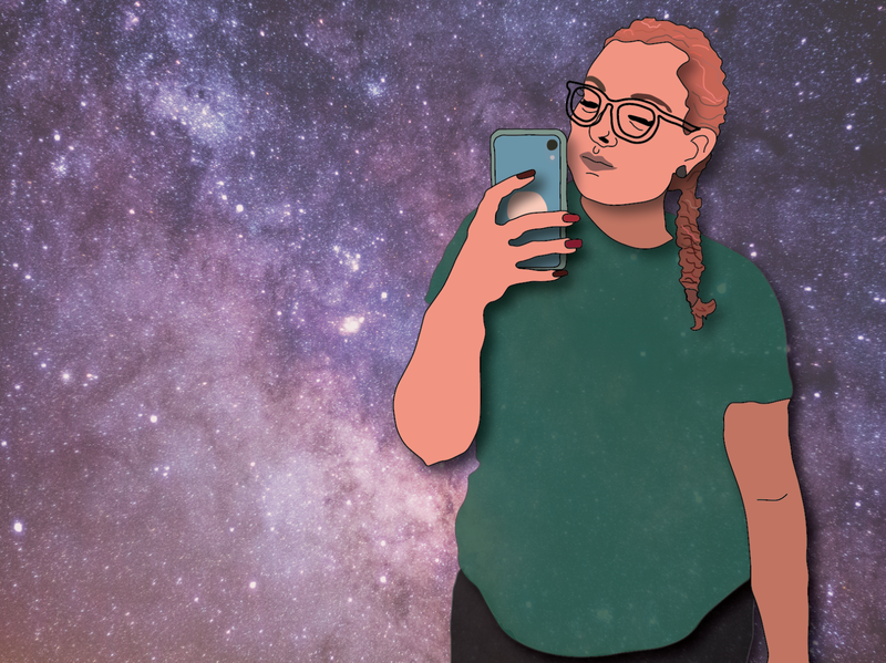 Ima Need Space selfie digital art design cartoon illustration artist photo illustration space