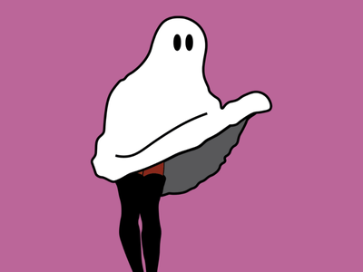 Pin Up Ghost adobeillustator design illustration illustrator halloween spooky ghost pinup