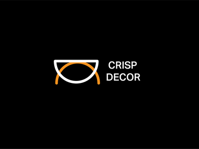 Crisp Decor visual identity logos illustration branding 30 day logo challenge