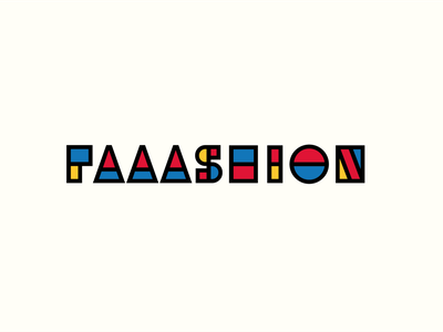 Faaashion typography visual identity logos illustration branding 30 day logo challenge