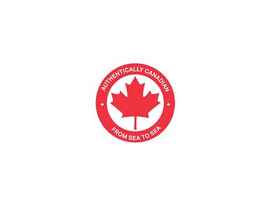 Authentically Canadian visual identity logos illustration branding 30 day logo challenge