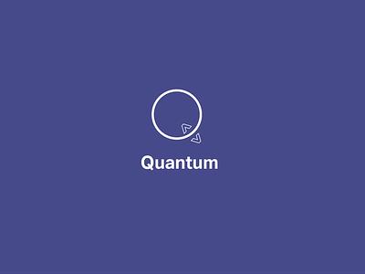 Quantum monogram visual identity logos illustration branding 30 day logo challenge