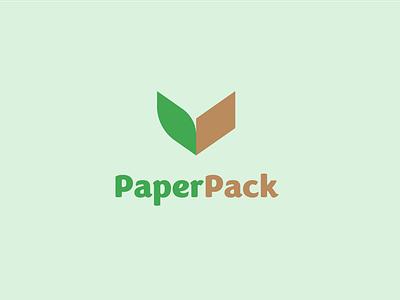 PaperPack visual identity logos illustration branding 30 day logo challenge