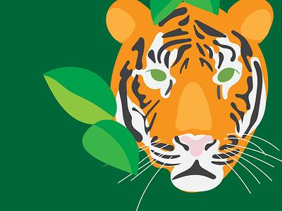 Tiger wild tiger digitalart illustration