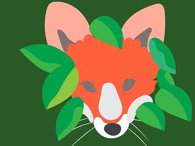 Fox fox wild digitalart illustration