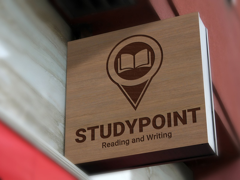 Study Point Logo business location red cyan clean modern university logo studypoint studying student study school reading learn knowledge education college university