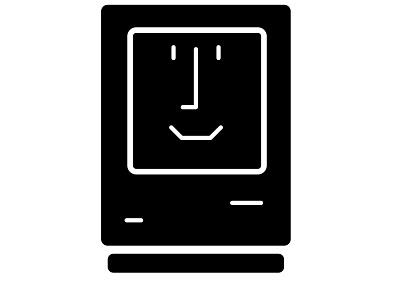 Apple Mac #1.1 mac tech logo old minimalistic logo design illustrator vector hello pc black  white imac apple