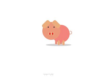 Piggy cute vectorart save bank piggy pink wallpaper photoshop illustrator design vector