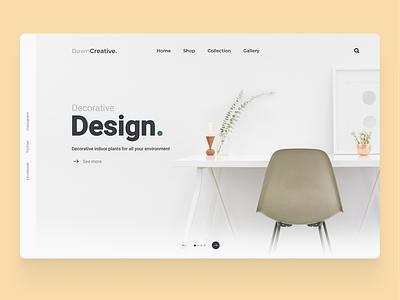 Dekor dekor website dekor design app ui app design web design web