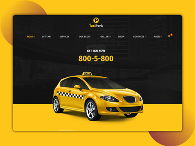 TaxiPark - Online Taxi booking website landing page website designer ux design landing page dribble best shot best shots taxi service taxi booking ordering online service car service car cab booking from bike booking