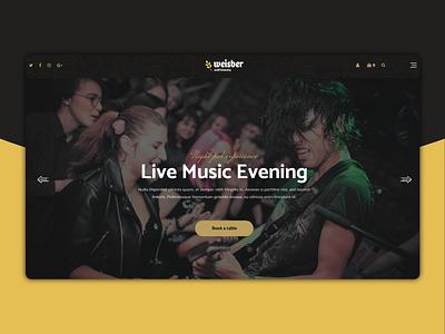 Weisber - Live Concert Landig Page design designer creative design ux design clean website dribble best shot best shots mobile music landing page concept landing page
