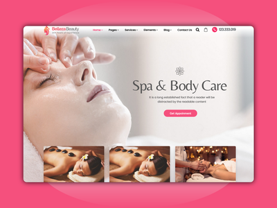 Belleza - Spa & Body Care website landing page designer creative design ux design clean website dribble best shot best shots webdesigner webdesign landingpage massage beauty