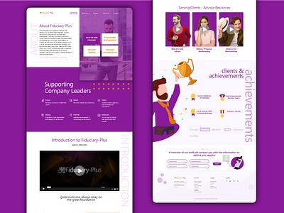Fiduciary - Creative agency Website corporate creative designer landing page creative design ux design clean website dribble best shot best shots