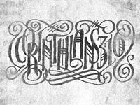 CORINTHIANS 3:16 Tattoo Concept