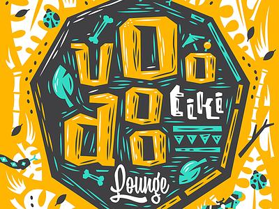 Muskeg X Kendrick Kidd — Voodoo Tiki illustration voodoo tiki layout design losttype muskeg typedesign typeface font