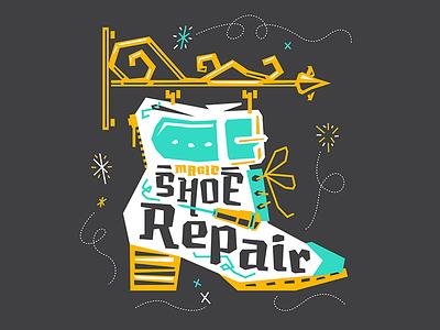 Muskeg X Kendrick Kidd — Magic Shoe Repair typeface typedesign muskeg losttype layout illustration font design