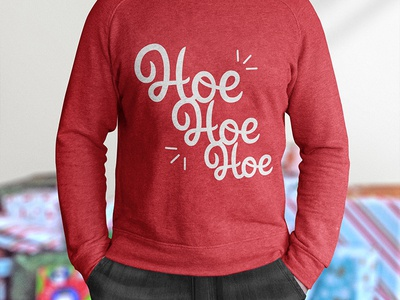 Christmas Sweater - Hoe Hoe Hoe Edition apparel christmas lettering hoe hoe hoe ho ho ho christmas sweater