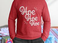 Christmas Sweater - Hoe Hoe Hoe Edition