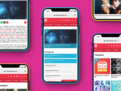 Club Corbeille : responsive design ui ui design wordpress front end development pop ergonomics colorful responsive