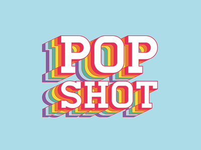 Pop Shot : logo design illustrator after effects animation pop logo design logo