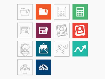 Mon Portail : icon design grid icon design icon icons logo logo design illustrator animation after effects portal liferay