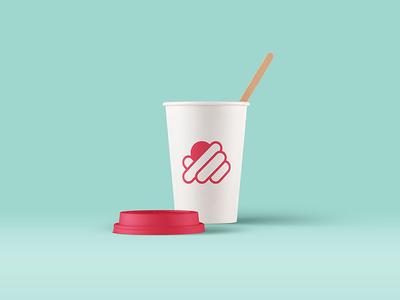 Topping logo design concept topping cupcake coffe shop bakery pastry icon illustrator vector logo design logo