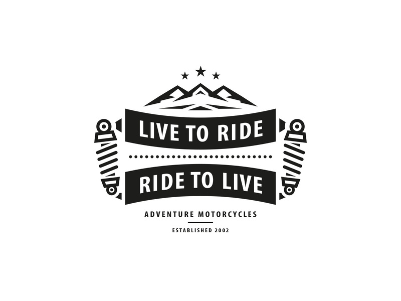 Live to Ride ... Ride to Live branding adventure stars mountains motorcycle mirbachdesign logo design hamburg marken design hamburg brand design hamburg