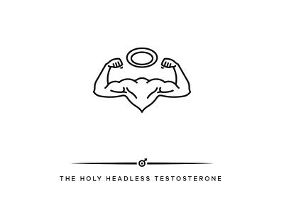 THE HOLY HEADLESS TESTOSTERONE power muscles erotic logo design hamburg marken design hamburg brand design hamburg