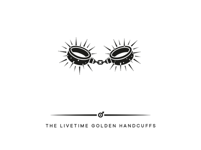 THE LIVETIME GOLDEN HANDCUFFS marriage erotic couple brand design hamburh