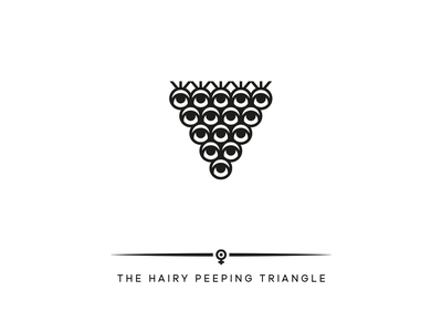 THE HAIRY PEEPING TRIANGLE bush eye sex erotic hair triangle logodesign hamburg brand design hamburg marken design hamburg
