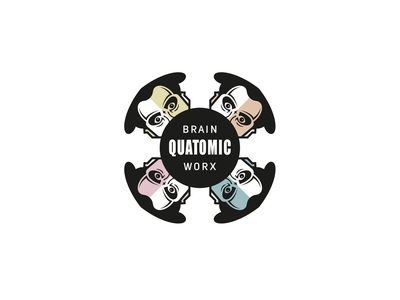 Quatomix brand design hamburg brain work atom agency head
