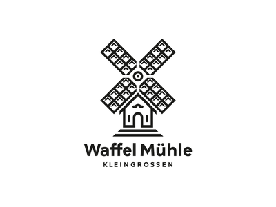 Waffel Muehle sweets country house mill waffle brand design hamburg