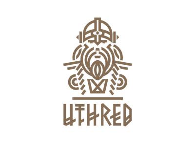 Uthred 2 logodesignhamburg lorenamirbach typeandsignshamburg berndmirbach illustration brand logo sign bar drink knight beer