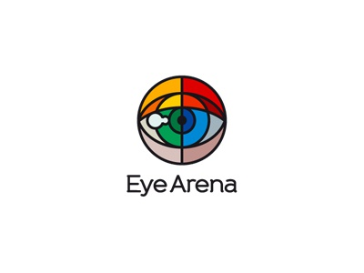 Eye Arena eye arena optician ophthalmologist private investigato security artist love logo brand tas r