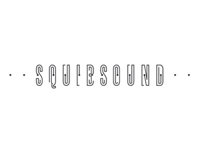 Squibsound pure squib sound music tas love type dots lines black logo calligraphy structure