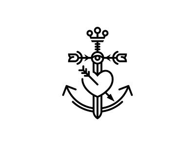 Anchor-Rose-Crown  ...  smile  ... logo-design-hamburg marken-design-hamburg brand-design-hamburg mirbachdesign mirbach-logo-design