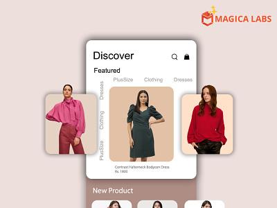 Shopping app design - Magica Labs design graphic design ui ux app development company app development services app development web develpment mobile app shopping app