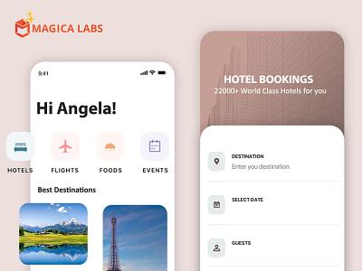 Travel app portfolio  - Magica labs