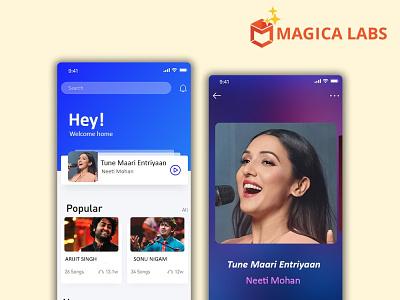 Music streaming app design design app ux branding ios app development ios app andriod app development android app app develoopment company app development graphic design ui