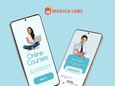 Magica Labs graphic design ux branding design ui mobile app android app development app development company mobile app development app development