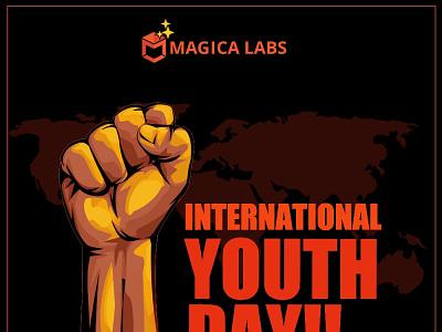 International Youth Day design branding logo ux international youth day youth day graphic design ui