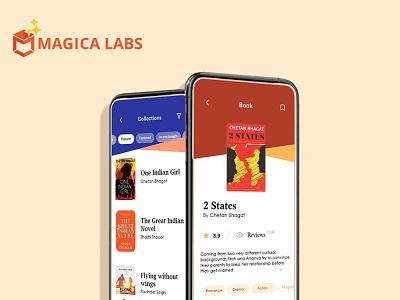 Mobile app  portfolio - Magica Labs ux ui design branding graphic design app development mobile app development mobile app